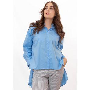Рубашка женская Lumina-L2778-BLUE