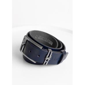 Ремень кожанный Calvin Klein-Dark Blue